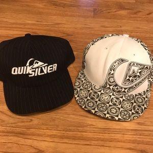 2 Quicksilver Hats Good Condition